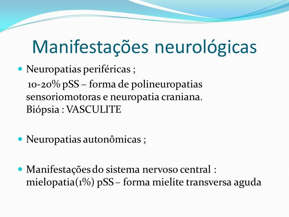 Manifestações neurológicas