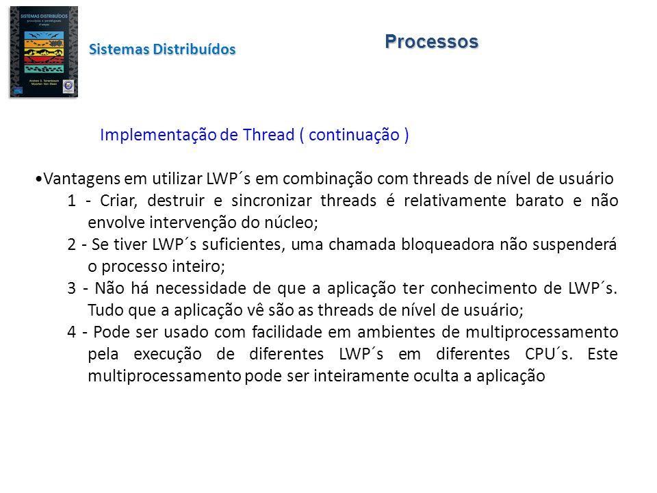 Implementação de Thread ( continuação )