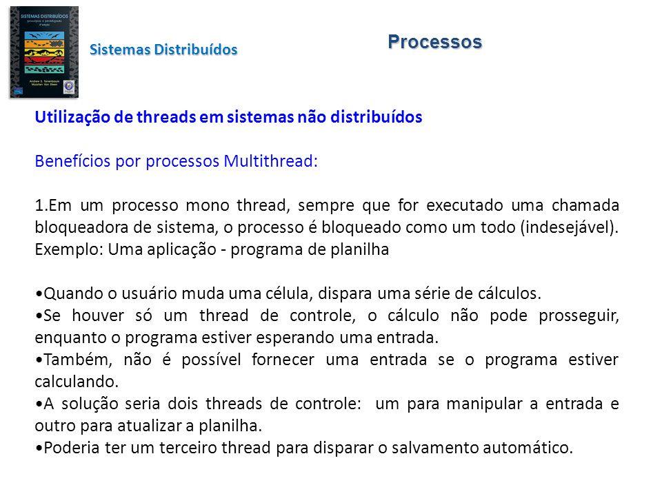 Utilização de threads em sistemas não distribuídos