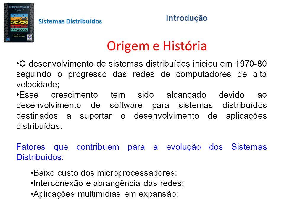 Introdução Sistemas Distribuídos. Origem e História.