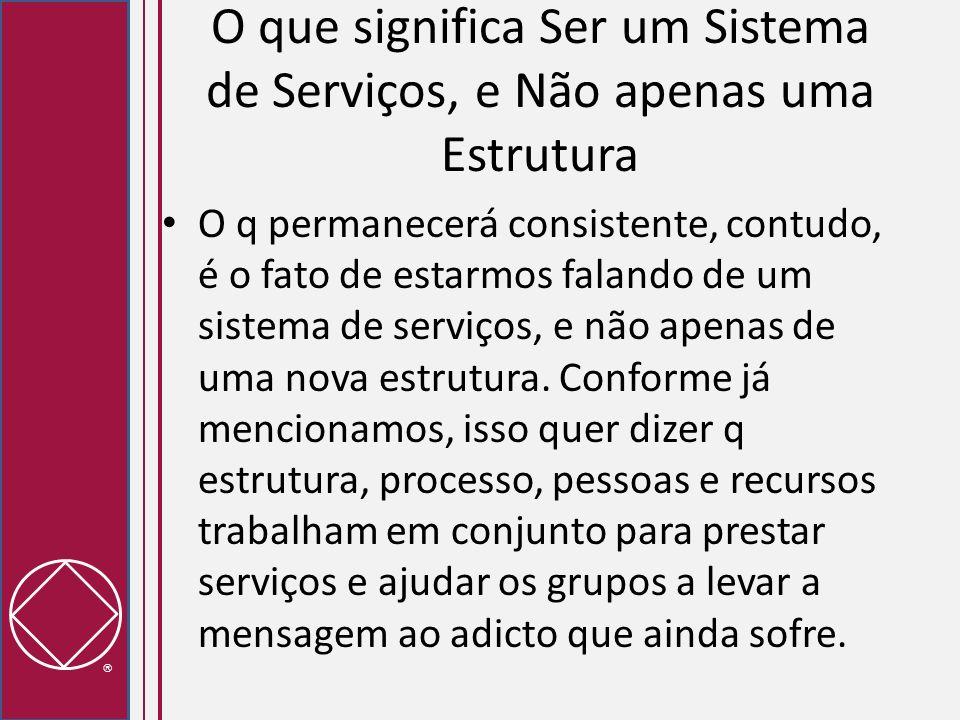 O que significa Ser um Sistema de Serviços, e Não apenas uma Estrutura