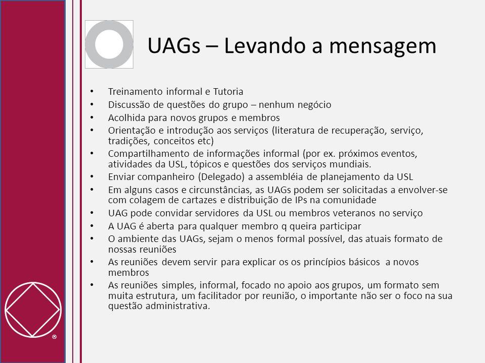 UAGs – Levando a mensagem