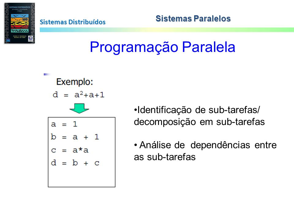 Programação Paralela Identificação de sub-tarefas/