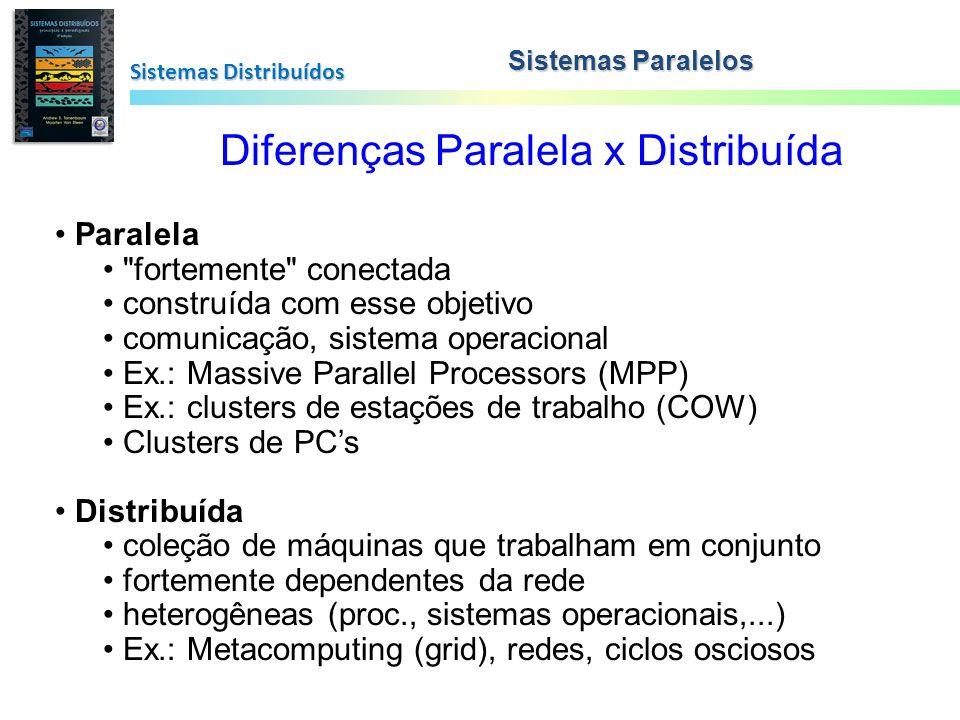 Diferenças Paralela x Distribuída