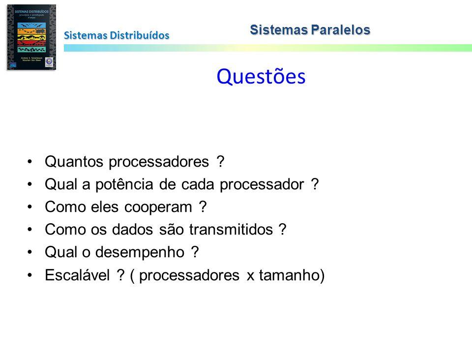 Questões Quantos processadores Qual a potência de cada processador