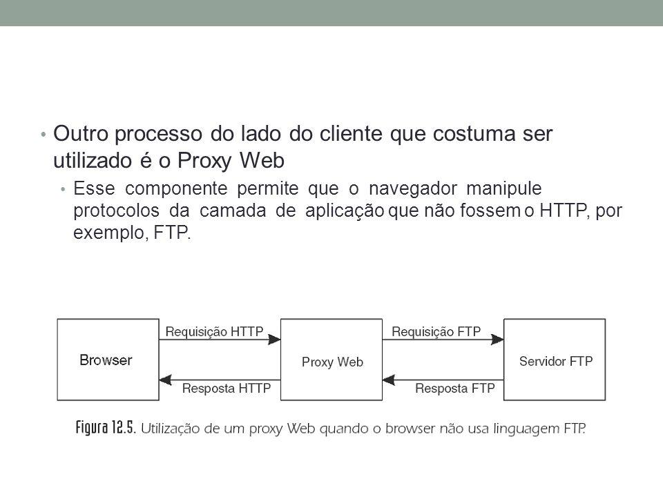 Outro processo do lado do cliente que costuma ser utilizado é o Proxy Web