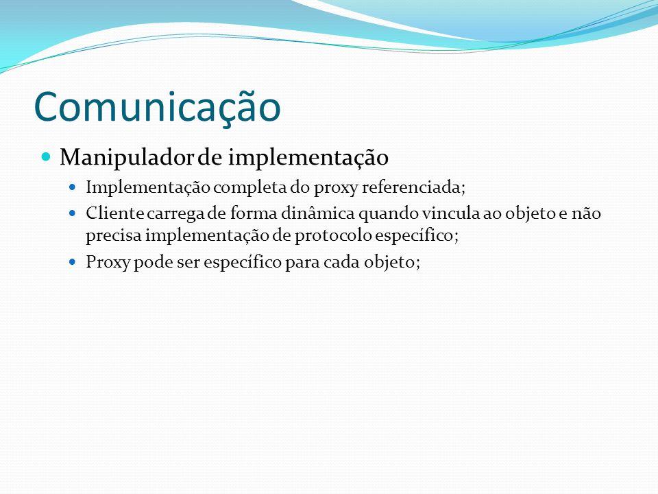 Comunicação Manipulador de implementação