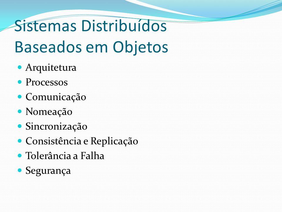 Sistemas Distribuídos Baseados em Objetos