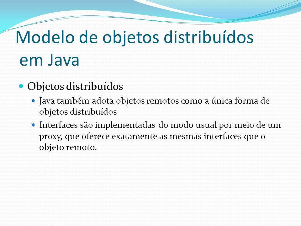 Modelo de objetos distribuídos em Java