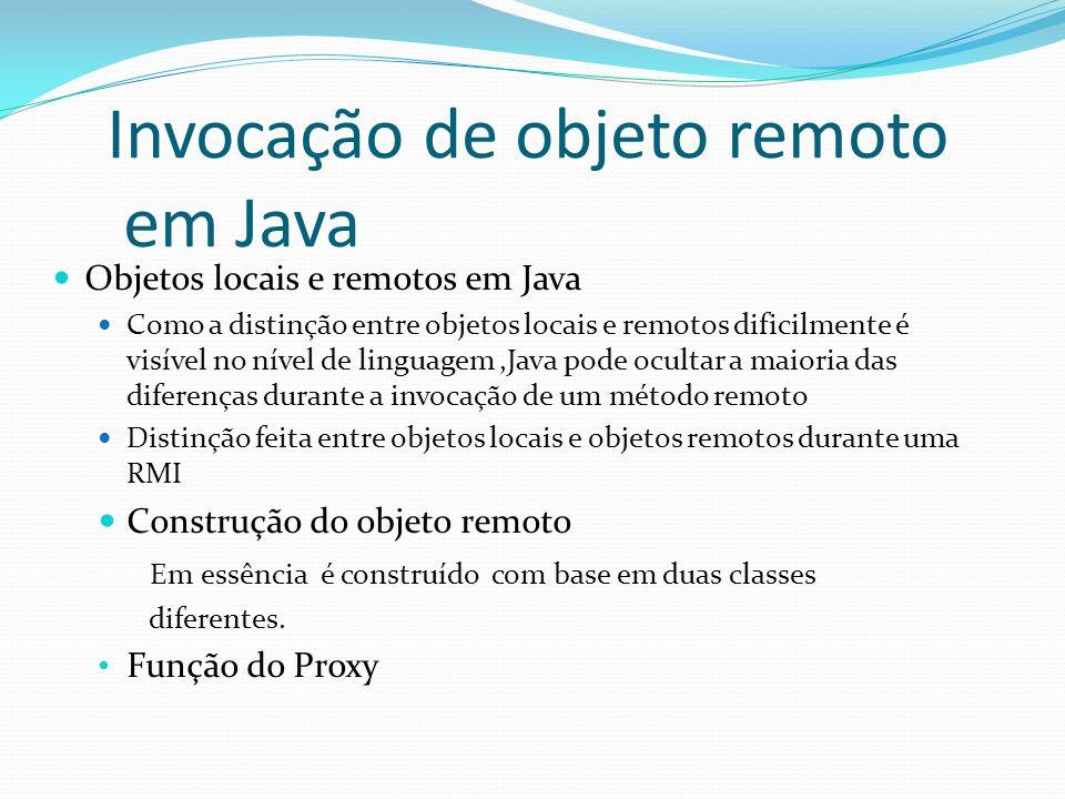 Invocação de objeto remoto em Java