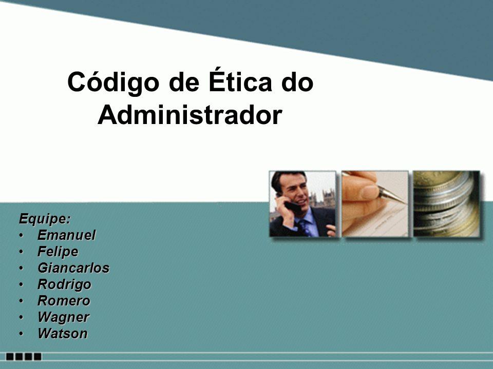 Código de Ética do Administrador