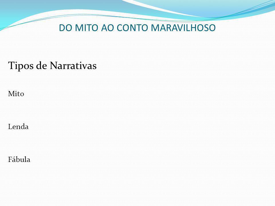 DO MITO AO CONTO MARAVILHOSO