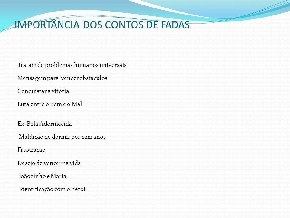 IMPORTÂNCIA DOS CONTOS DE FADAS