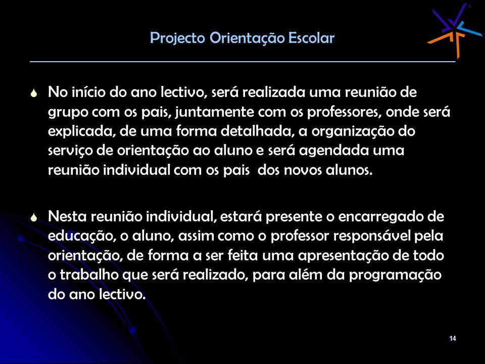 Projecto Orientação Escolar ________________________________________________________________________
