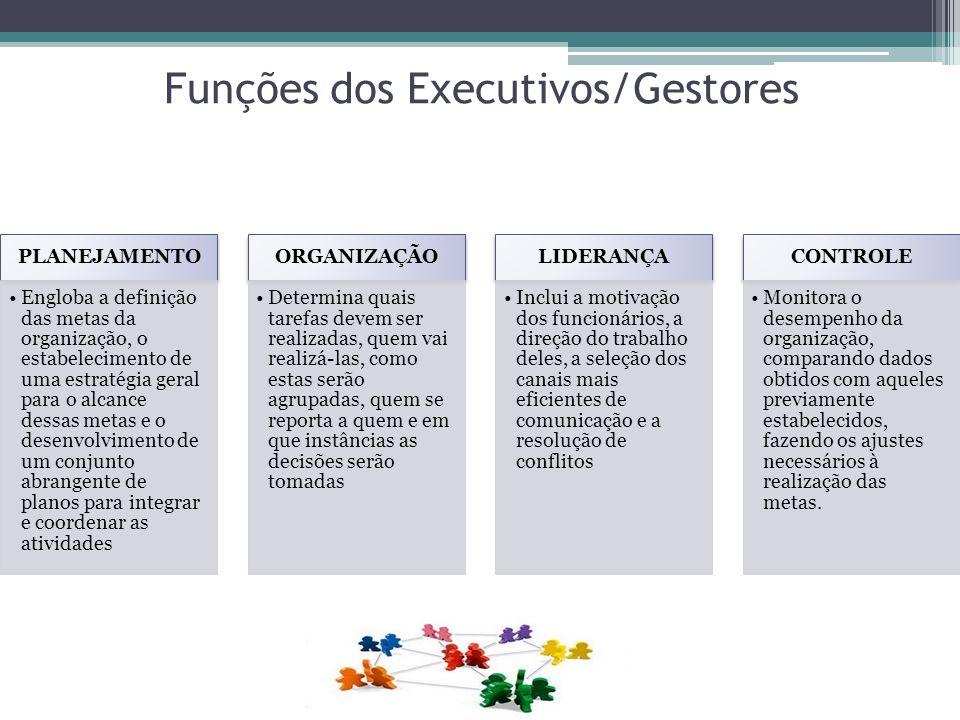 Funções dos Executivos/Gestores