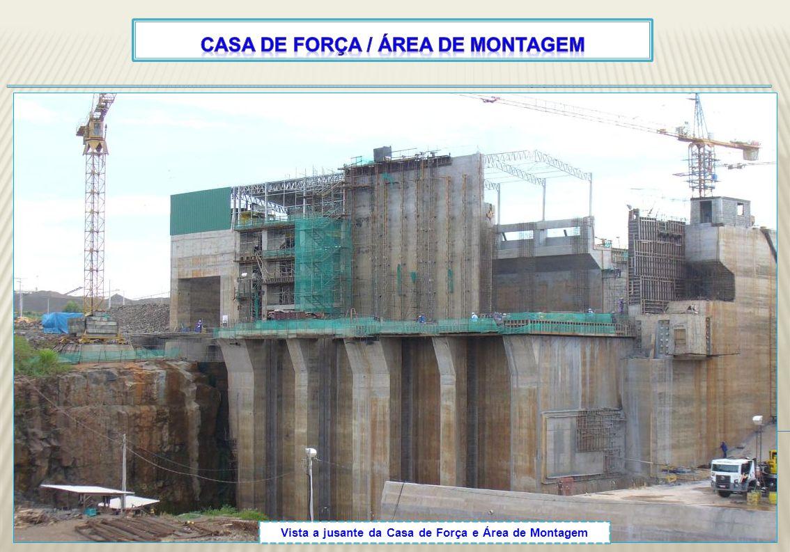 Casa de força / área de montagem
