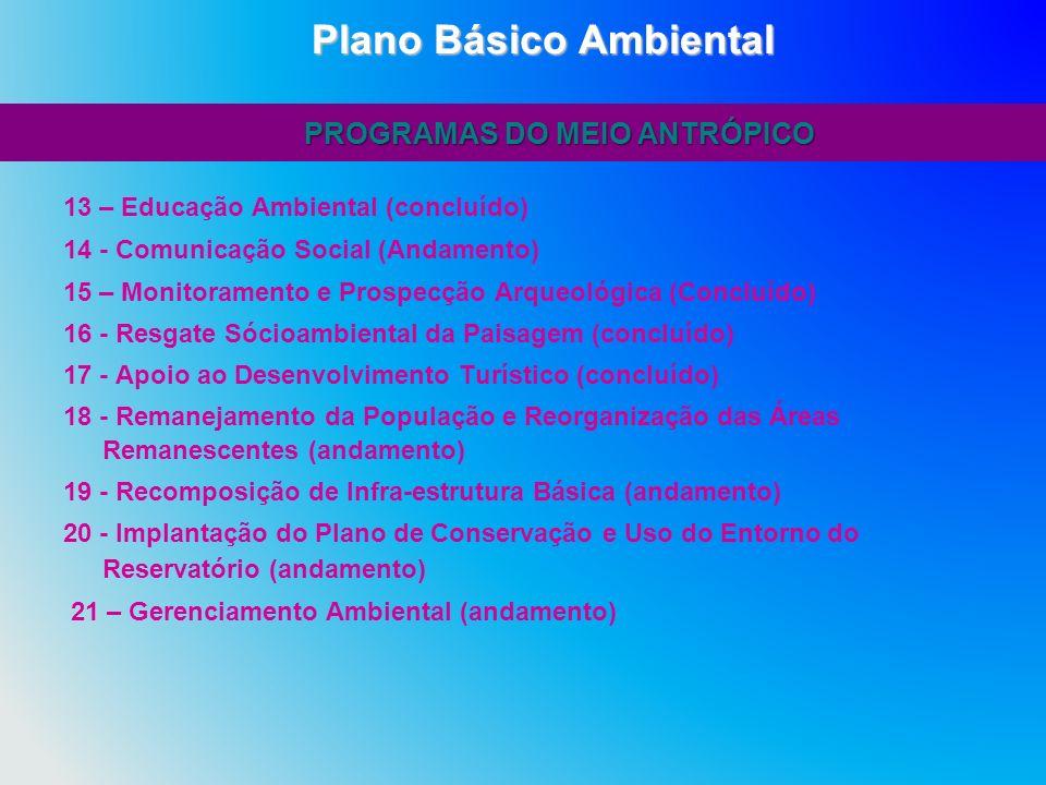 Plano Básico Ambiental PROGRAMAS DO MEIO ANTRÓPICO