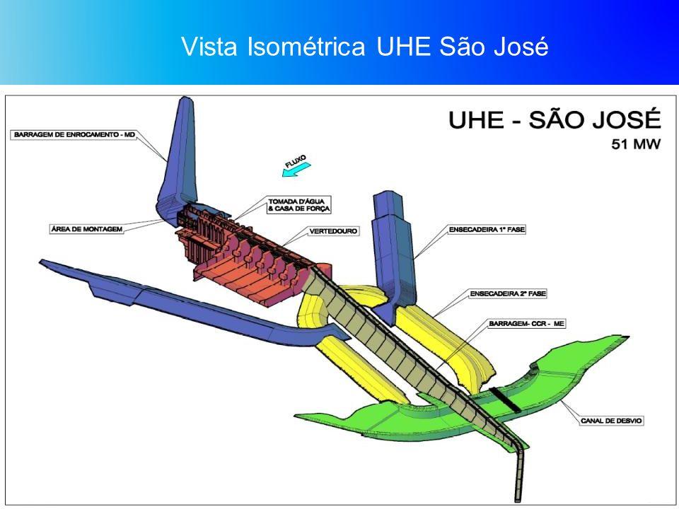 Vista Isométrica UHE São José