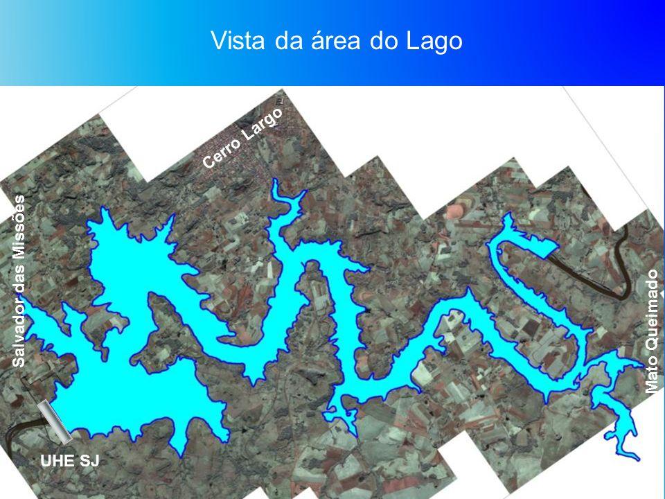 Vista da área do Lago Cerro Largo Salvador das Missões Mato Queimado