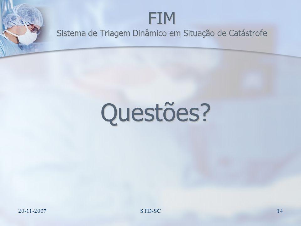 FIM Sistema de Triagem Dinâmico em Situação de Catástrofe