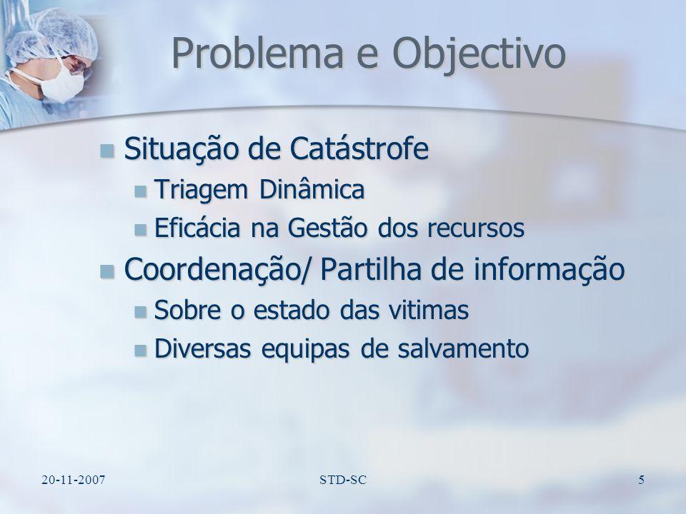 Problema e Objectivo Situação de Catástrofe