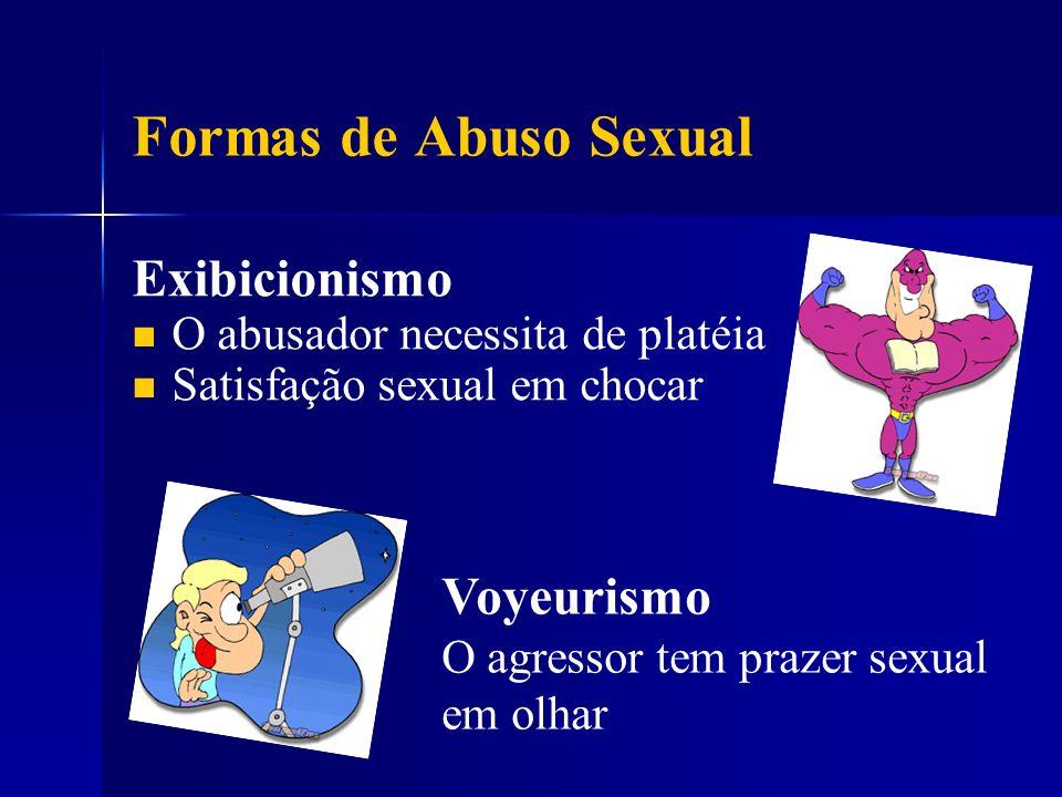 Formas de Abuso Sexual Exibicionismo Voyeurismo