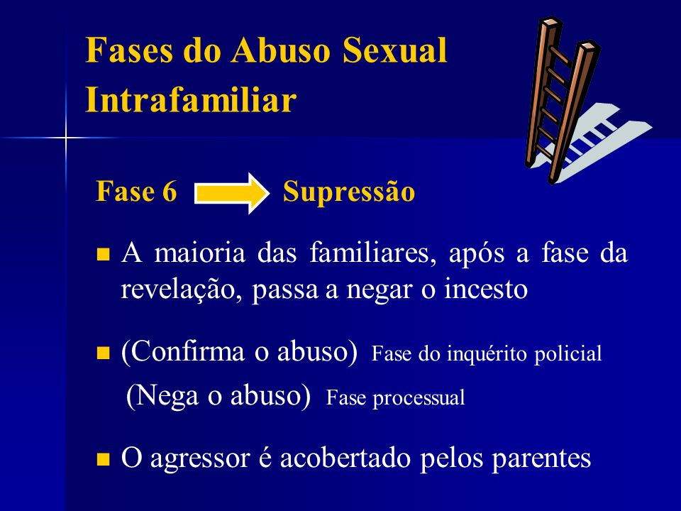 Fases do Abuso Sexual Intrafamiliar