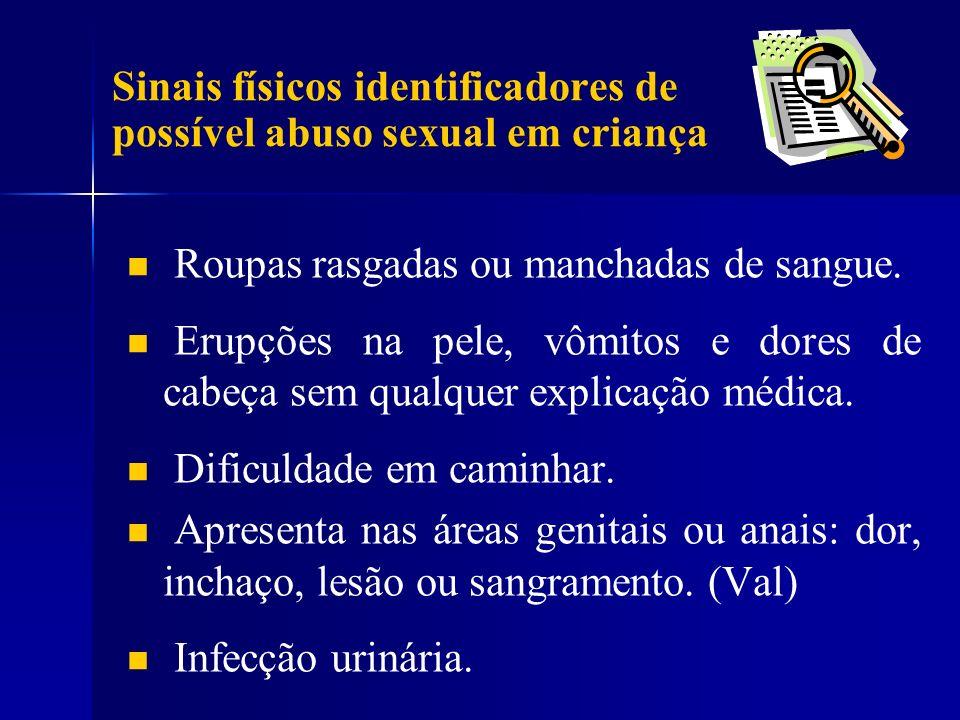 Sinais físicos identificadores de possível abuso sexual em criança