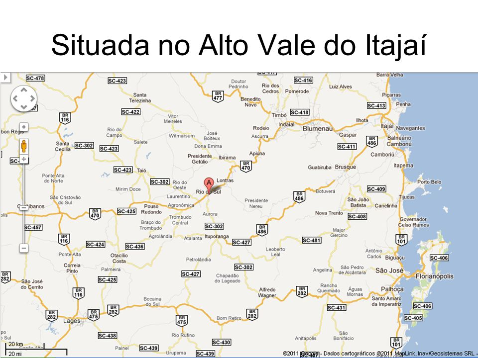 Situada no Alto Vale do Itajaí