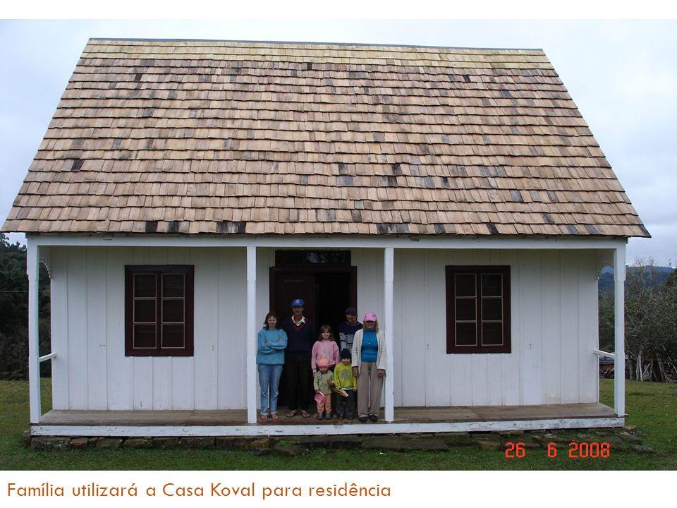 Família utilizará a Casa Koval para residência