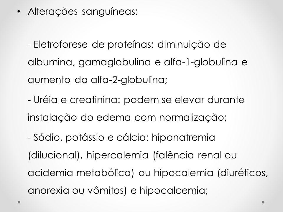 Alterações sanguíneas: