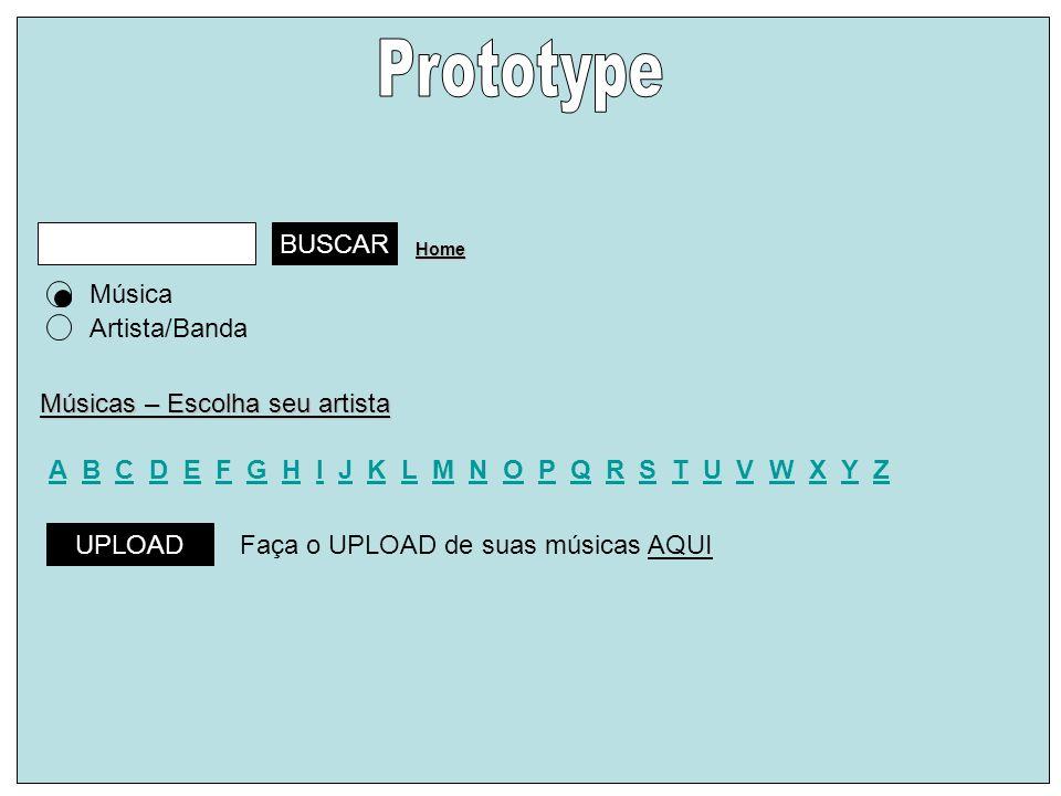 Prototype BUSCAR Música Artista/Banda Músicas – Escolha seu artista