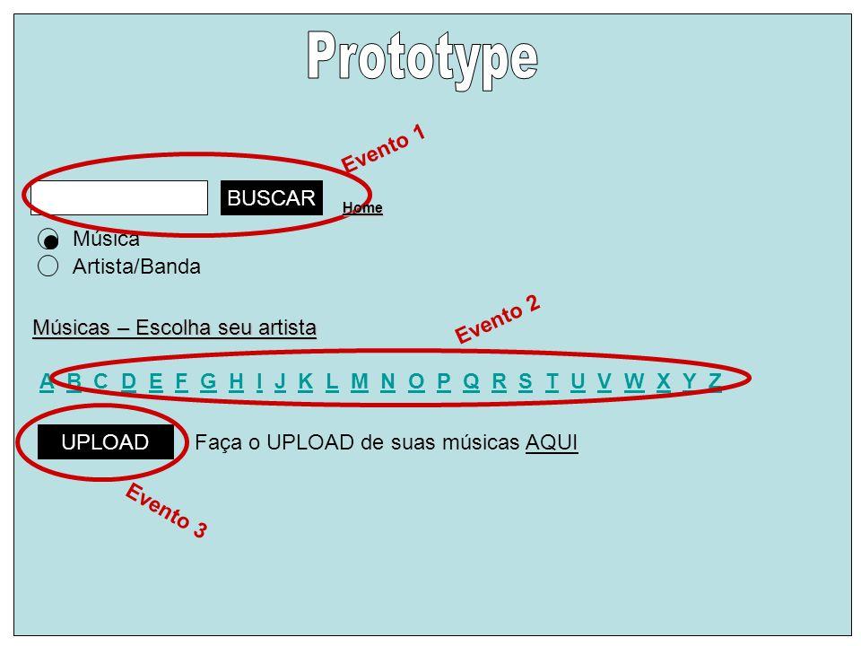 Prototype Evento 1 BUSCAR Música Artista/Banda Evento 2