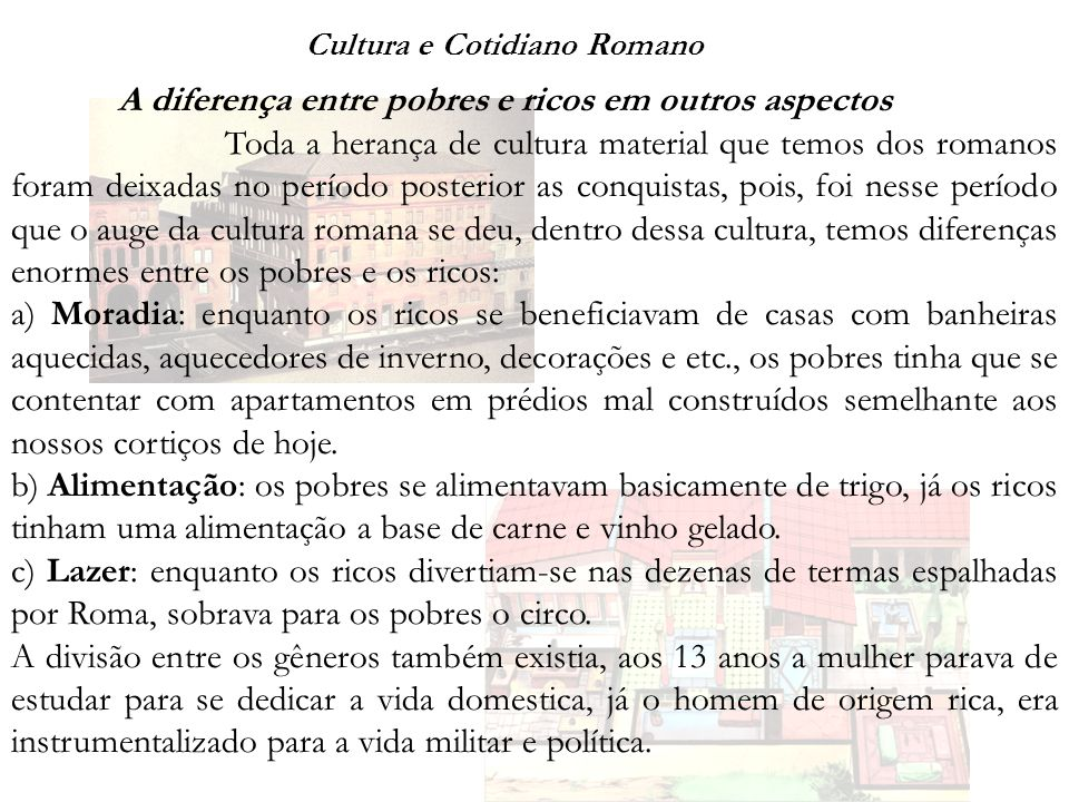 Cultura e Cotidiano Romano