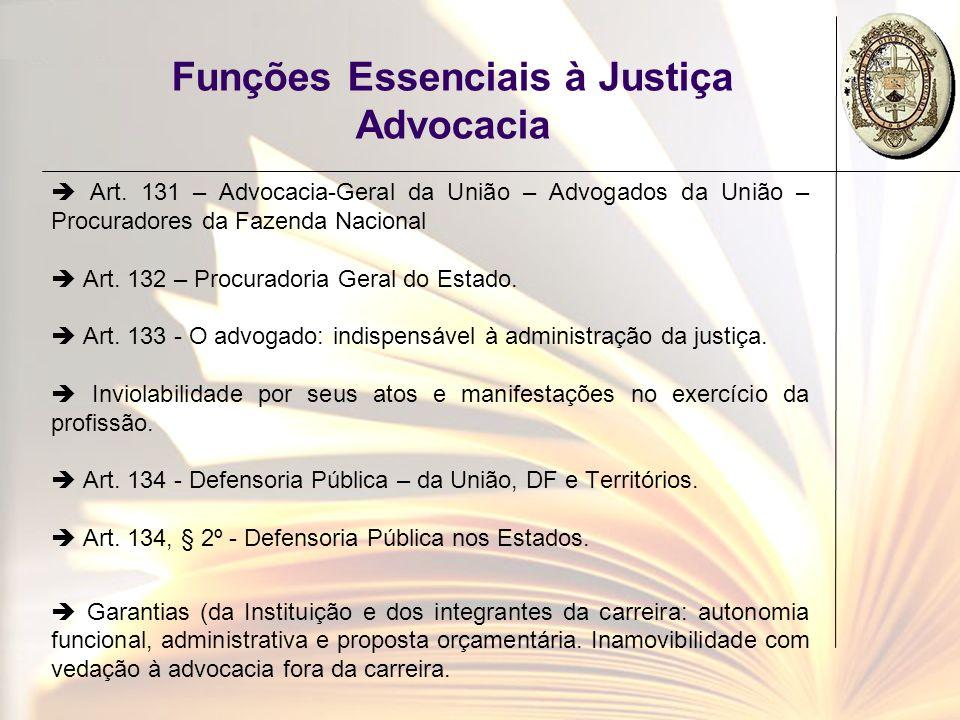 Funções Essenciais à Justiça Advocacia