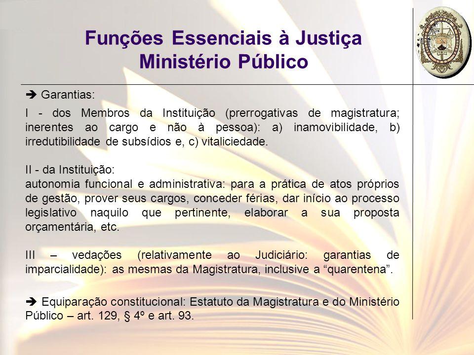 Funções Essenciais à Justiça Ministério Público