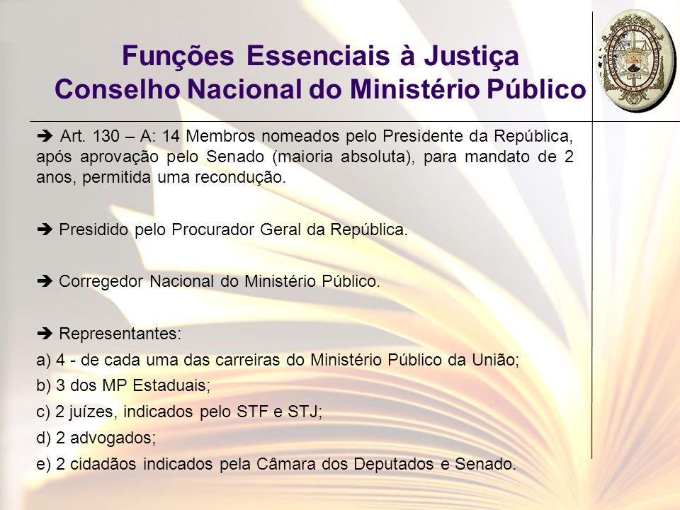 Funções Essenciais à Justiça Conselho Nacional do Ministério Público