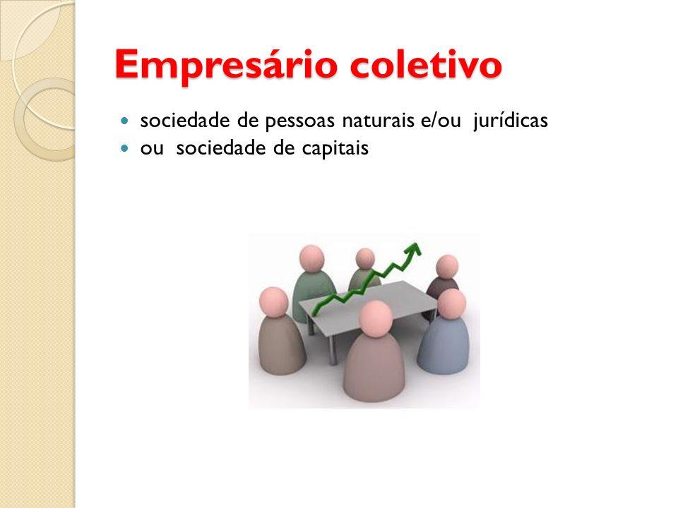 Empresário coletivo sociedade de pessoas naturais e/ou jurídicas