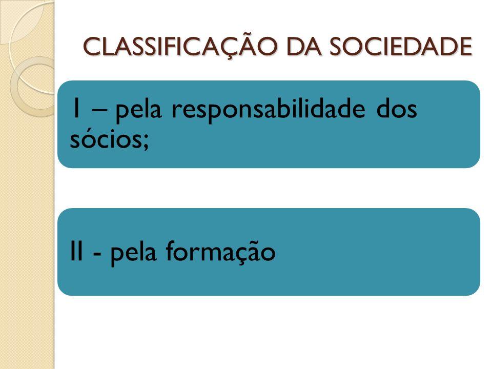 CLASSIFICAÇÃO DA SOCIEDADE