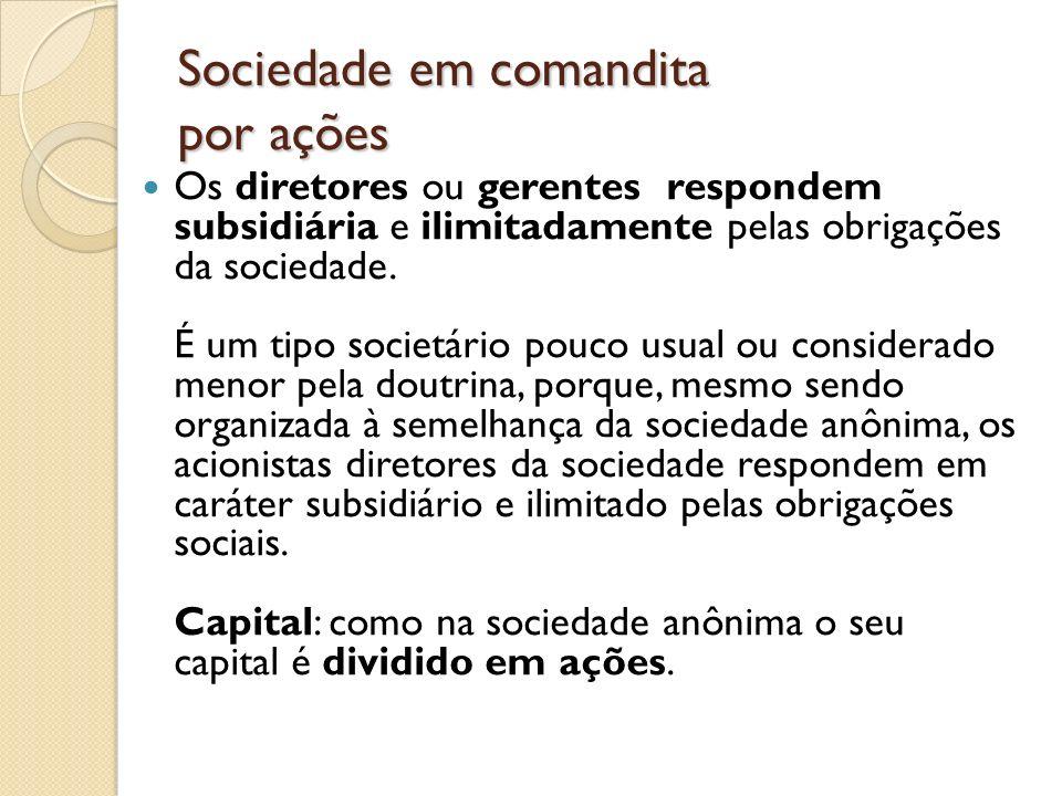 Sociedade em comandita por ações
