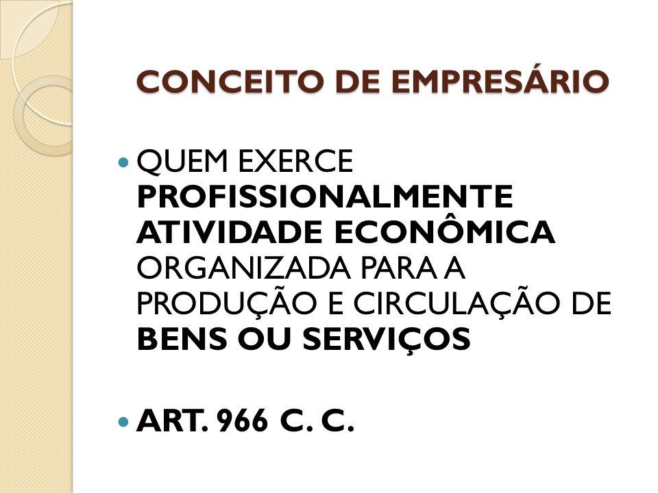 CONCEITO DE EMPRESÁRIO