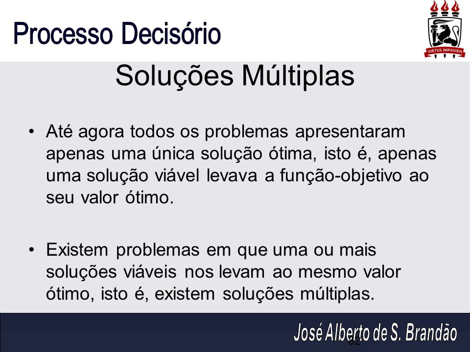 Soluções Múltiplas