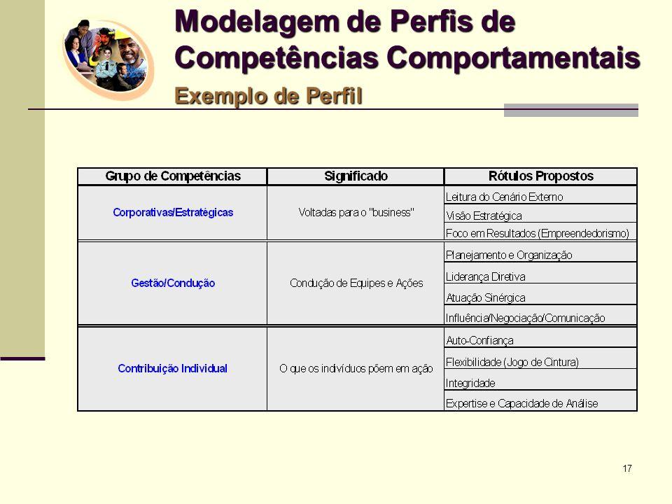 Modelagem de Perfis de Competências Comportamentais Exemplo de Perfil