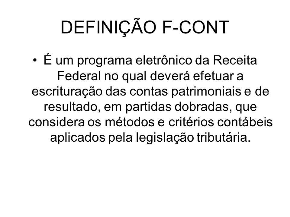 DEFINIÇÃO F-CONT