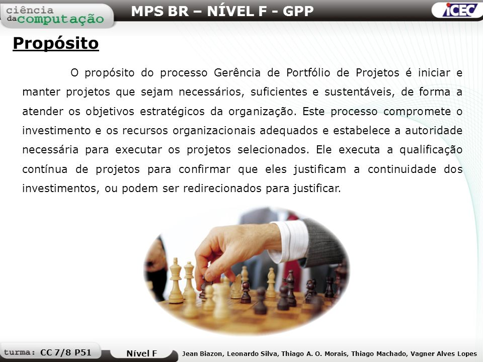 Propósito MPS BR – NÍVEL F - GPP