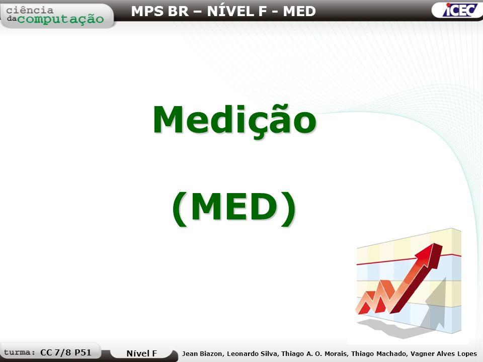 Medição (MED) MPS BR – NÍVEL F - MED CC 7/8 P51 Nível F