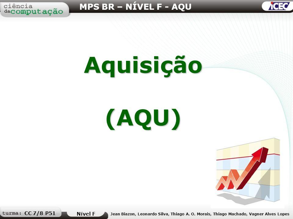 Aquisição (AQU) MPS BR – NÍVEL F - AQU CC 7/8 P51 Nível F