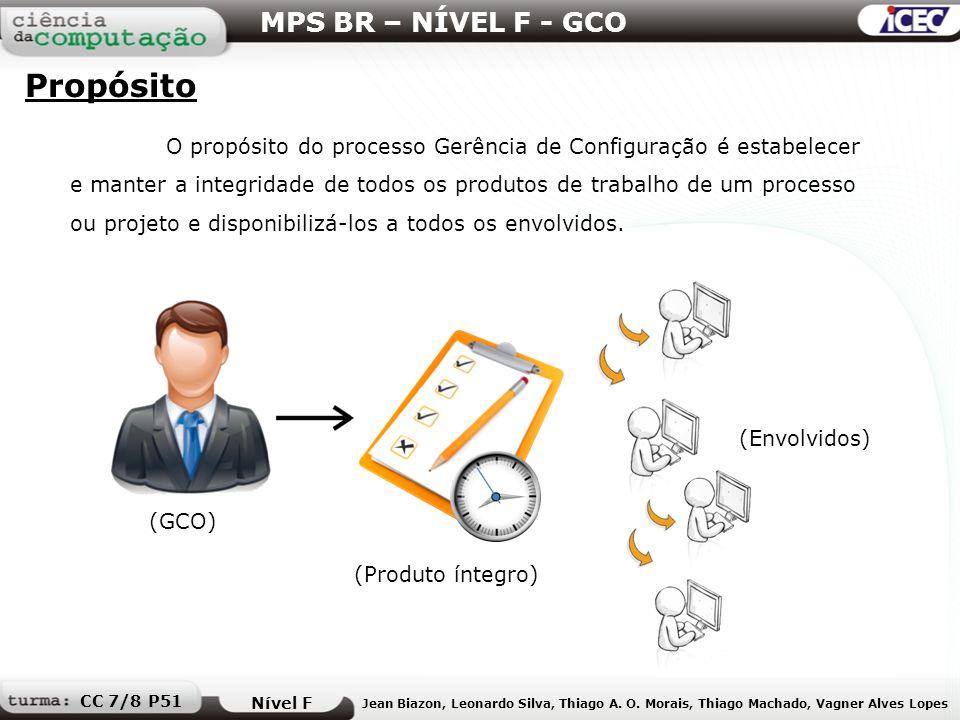 Propósito MPS BR – NÍVEL F - GCO