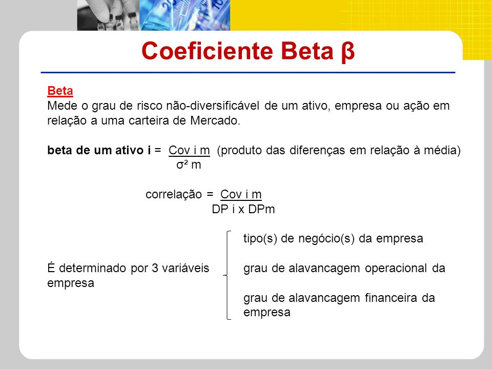 Coeficiente Beta β Beta