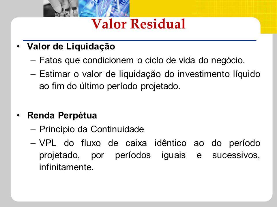 Valor Residual Valor de Liquidação